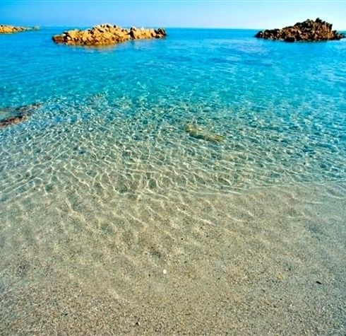Sardinia, Italy - camping on the beach