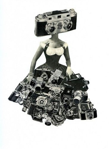 Camera Girl collage, $60.  If I had the bucks this would be my photographer sister's birthday gift.