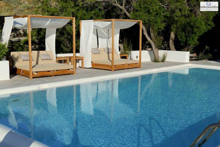Lounging at the Presidential Villa! #luxury #comfort More at ambassadorhotelsantorini.com