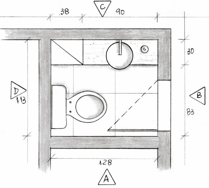 Lavabo Planta Baixa  Projeto Ana Lucia Nunes  Projetos Autorais  Pinterest -> Banheiro Pequeno Planta Baixa