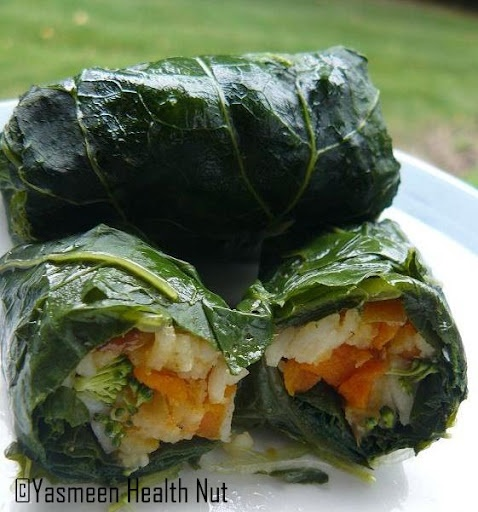 stuffed turnip greens. These sound soooo good right now....