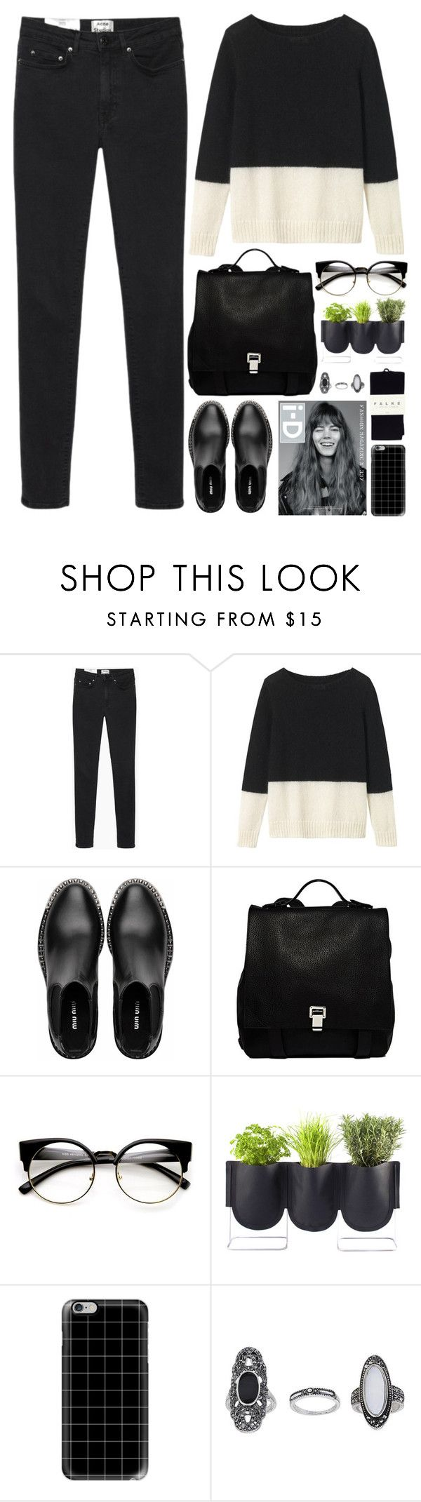 """Dog Days Are Over"" by annaclaraalvez ❤ liked on Polyvore featuring Acne Studios, Toast, Miu Miu, Proenza Schouler, Authentics, Casetify, Topshop and Falke"