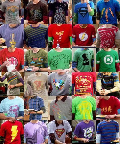 Sheldon Cooper's shirt collection