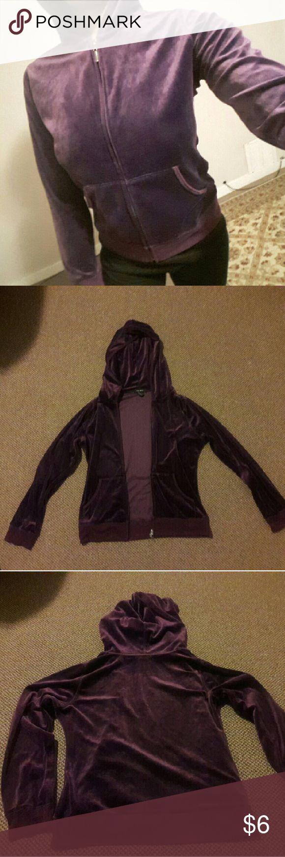 Purple Zip Up Hoodie Soft amd super comfortable cotton zip up, long sleeve hoodie, large. Beta House Tops Sweatshirts & Hoodies