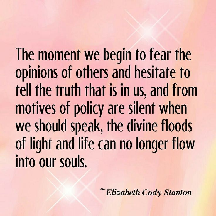 The moment we begin to feat the opinions of others and hesitate to tell the…