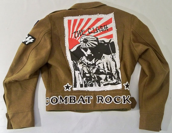 IN LOVE with this!!!  The Clash Combat Rock Custom Military Jacket by SkullnBonesTattoo  http://www.etsy.com/listing/87782483/the-clash-combat-rock-custom-military