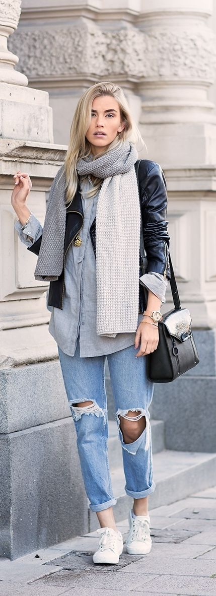 Simple casual fall layer outfit