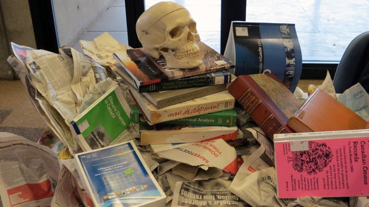 Skull & Books - Death of Evidence in #Canada, Oct.22 #YorkU #RIPevidence #OAweek