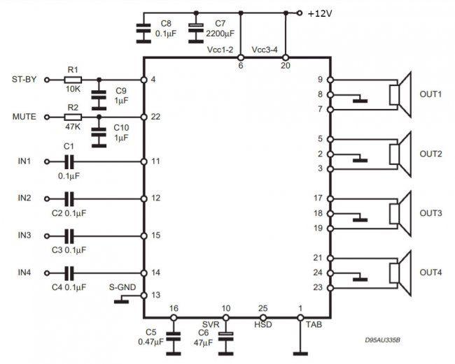 Simple Power Amplifier 4x50w