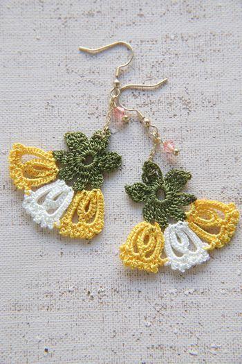 oya crochet earrings