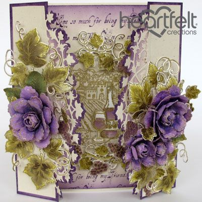 Heartfelt Creations | Italiana Script Gate Fold Card