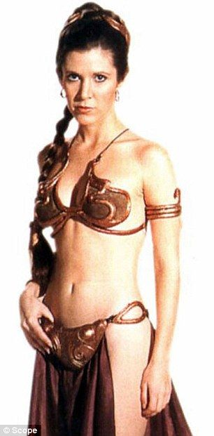 auction princess leia costume | Princess Leia's bikini to be auctioned off in California | Daily Mail ...