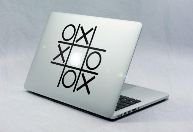 Sticker Macbook Morpion