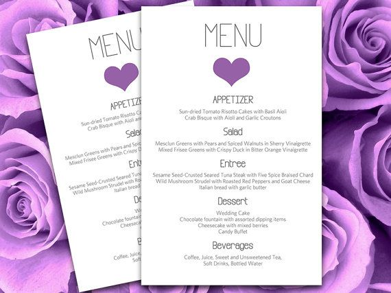 Mer enn 25 bra ideer om Purple heart menu på Pinterest - Menu Word Template