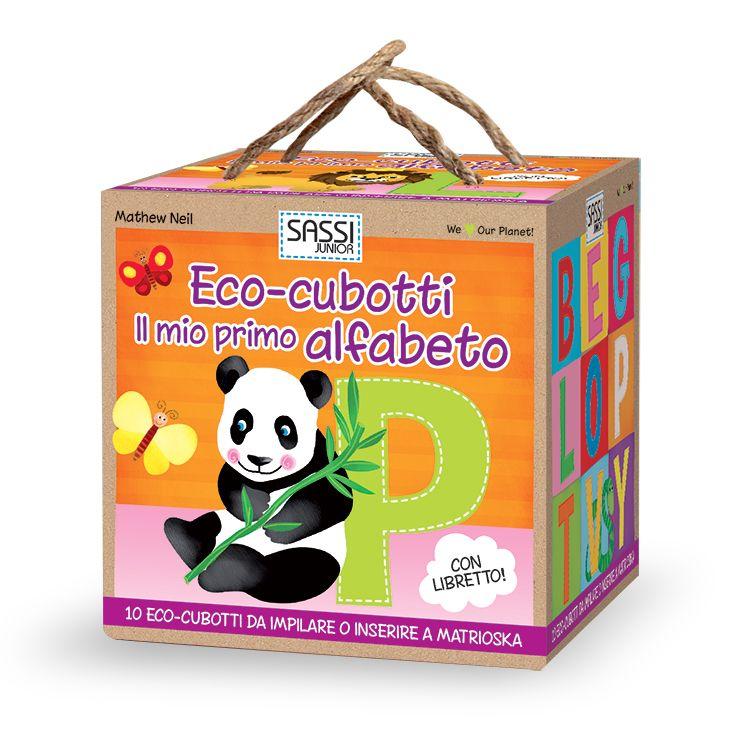 #Sassi Junior: Eco-cubotti - Il Mio Primo Alfabeto - 10 cubotti + libretto di 10 pagine. #ecologia #libro #gioco