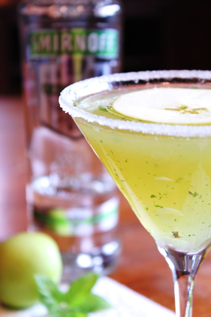 Sour apple martini....I'm not as enamoured of these as you'd think but if you're going to go a apple martini....make it sour
