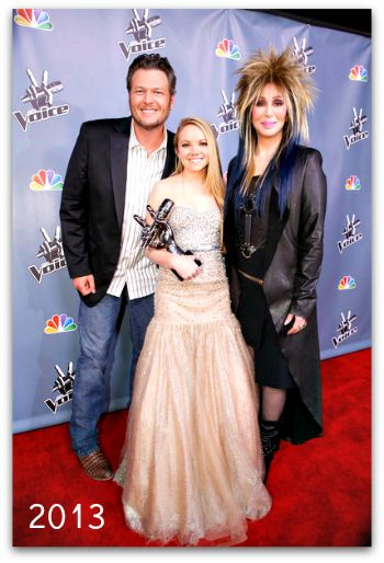Blake Shelton, Danielle Bradberry and Cher The Voice 2013