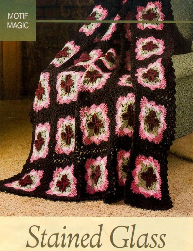321 best Crochet-Stained Glass Afghans images on Pinterest ...