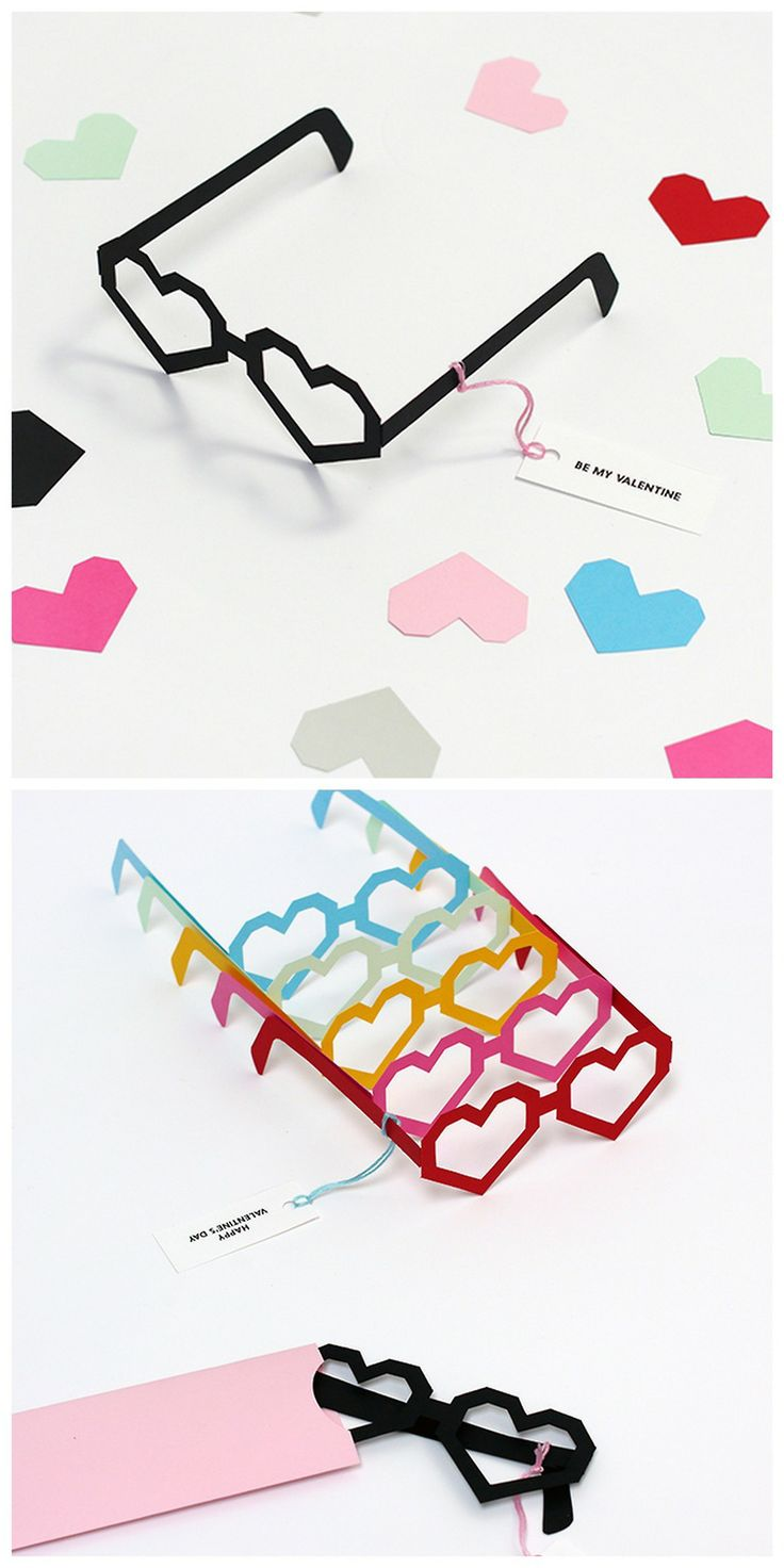 """DIY Valentine's Day Heart Glasses Printable from mrprintables.""""I only have eyes for you."""""""