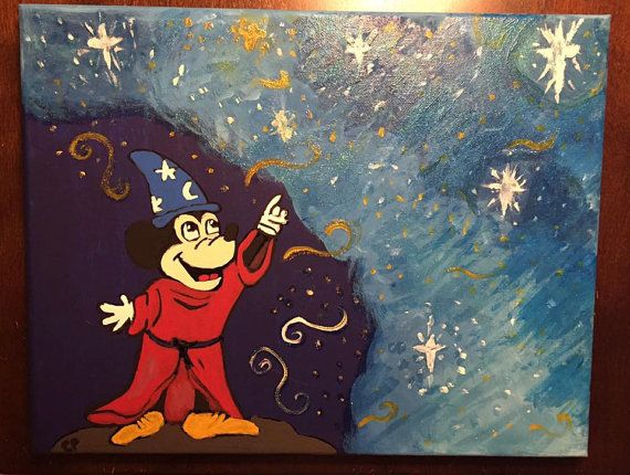 Check out this item in my Etsy shop https://www.etsy.com/listing/490667573/mickeys-magic-canvas-artwork-11x14 #crafty #crafts #diycrafts #diy #canvasart #etsy #kccreativecrafts #etsyseller #mileycyrus #mickeymouse #magic #canvas #painting