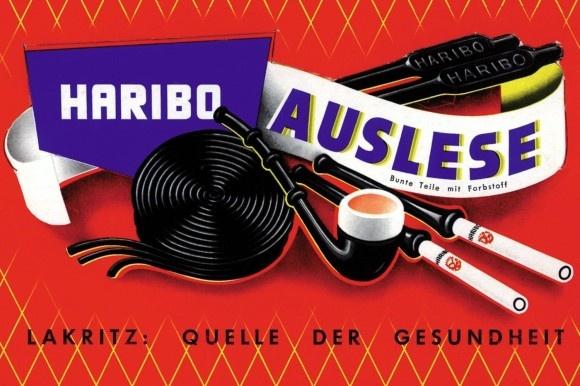 Haribo Lakritz - Werbung aus den 50er Jahren