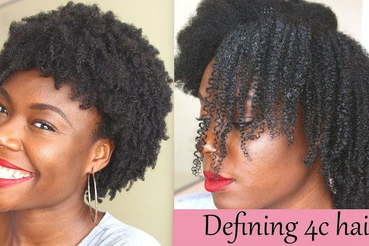 Defined curls on 4c natural hair using the loc method