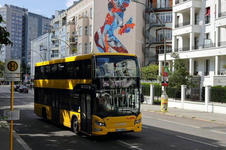 Scania City wide DD BVG Berlin,Am Friedrichshain im August 2017