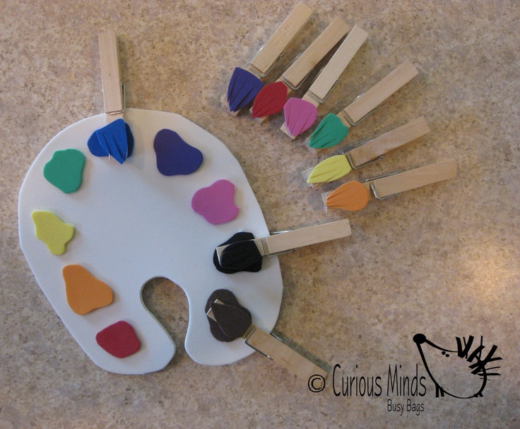 Color Sort Paint Palette Busy Bag. $5.00, via Etsy.  ... make with craft foam??
