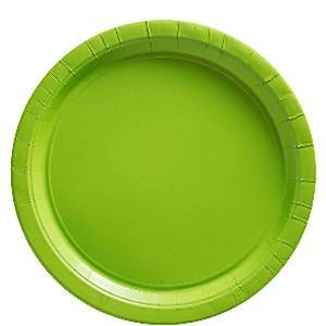 Lime grøn tallerken. Alt i lime grøn engangsservice.