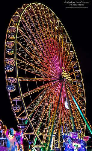 Powerful colors and light from a Ferris Wheel taken in Cologne Germany. ❣Julianne McPeters❣ no pin limits