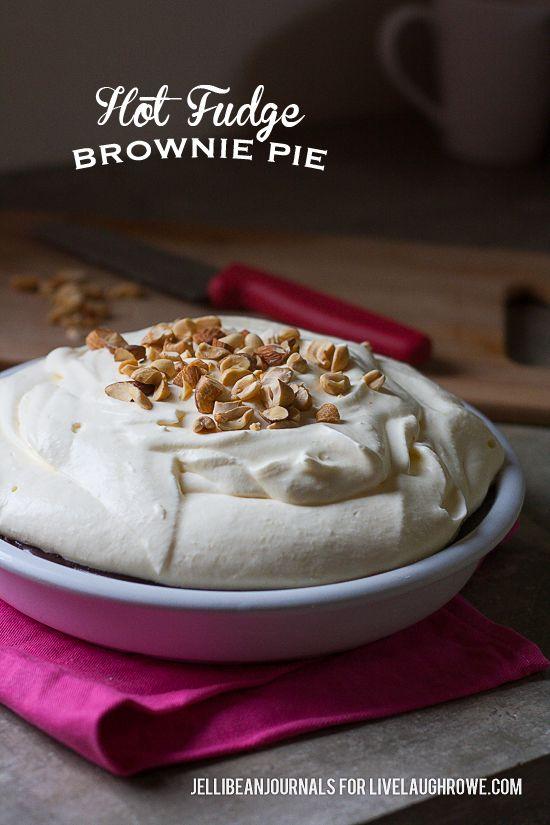 Hot Fudge Brownie Pie