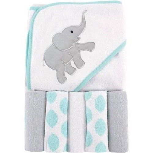 150 best baby gifts images on pinterest 5 washcloths hooded towel gift set baby shower elephant teal luvable bath l24 elephant negle Image collections