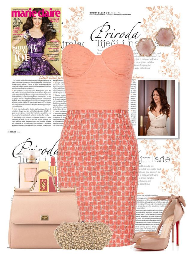 """""""Charlotte York - Sex And The City"""" by tigerlilli ❤ liked on Polyvore featuring Chanel, Alice + Olivia, Yves Saint Laurent, Christian Louboutin, Dolce&Gabbana, Irene Neuwirth, Santi, charlotteyork, sexandthecity and nudepumps"""