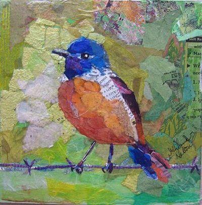 elizabeth st hilaire nelson   Elizabeth St. Hilaire Nelson, paper collage, #collage, #bird / birds ...