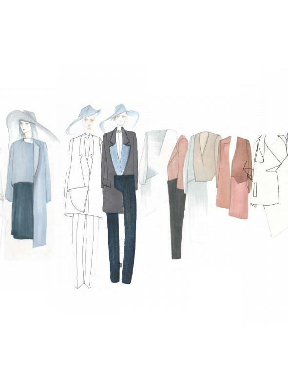 Fashion Sketchbook - modern tailoring, fashion illustrations, fashion portfolio // Marta Cesaro
