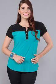 Resultado de imagen para blusa dos colores