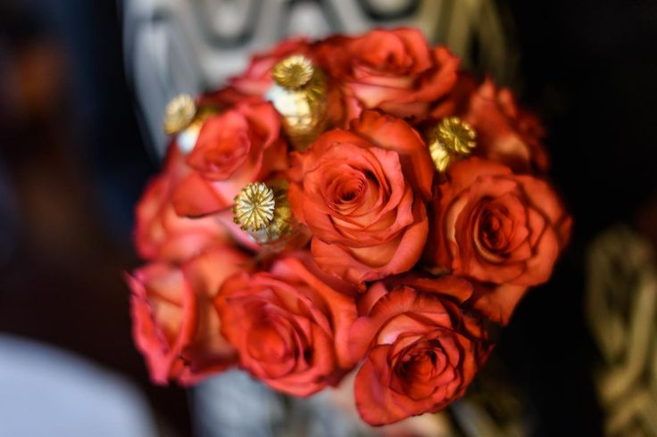 Bouquet for Bridal of Golden wedding