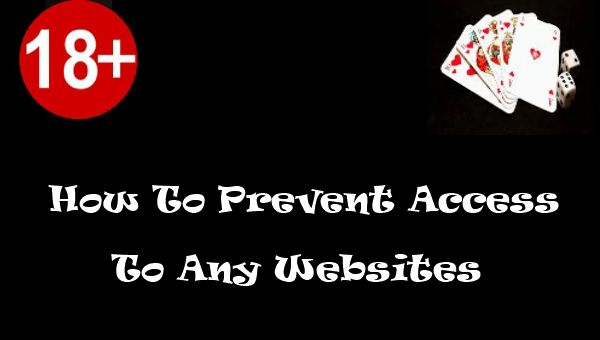 It's very important to protect children from adult, gambling sites, or any other site that would harm them. This is how to Prevent Access To Websites.