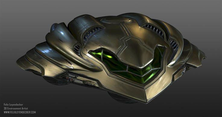 ArtStation - Metroid Prime Gunship - Fan Art, Felix Leyendecker