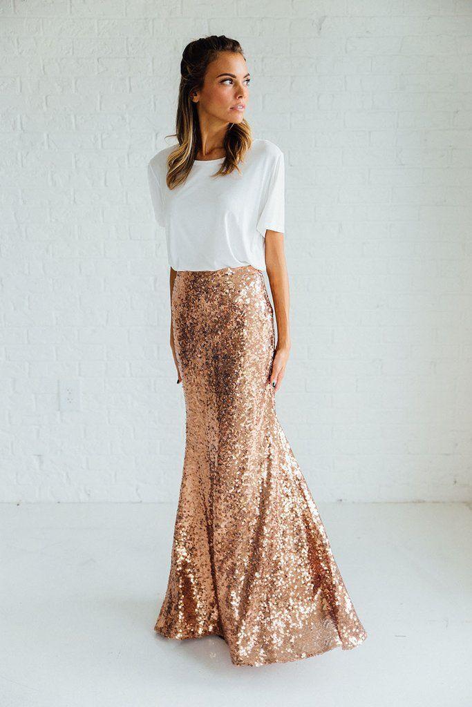 Follow Me Sequin Skirt