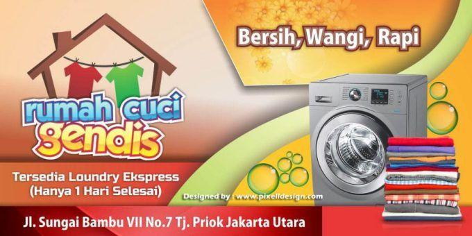 Contoh Iklan Jasa Laundry Spanduk Desain Banner Periklanan