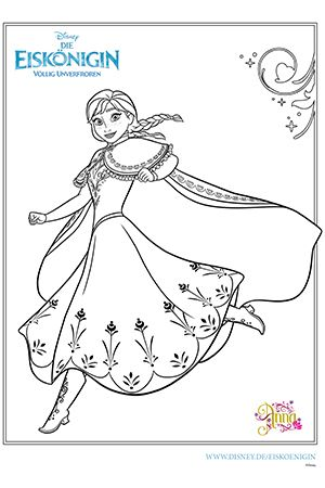 Die Eiskönigin - Malvorlage Anna Disney malvorlagen