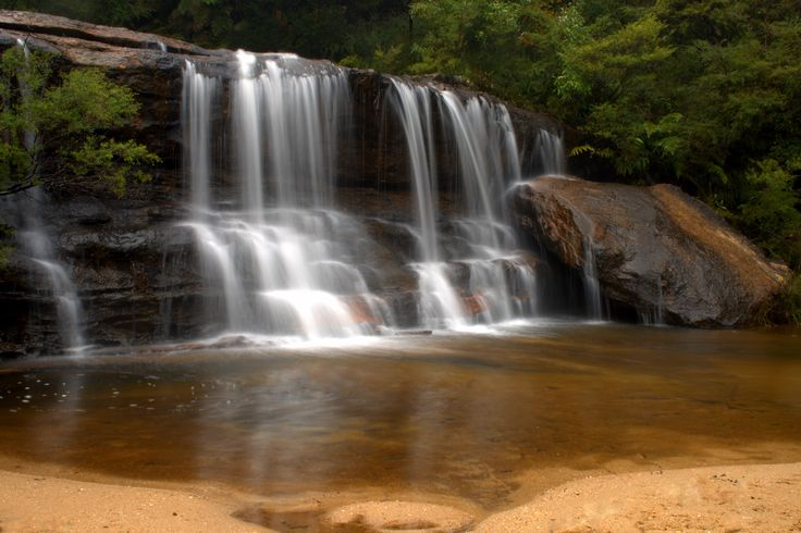 Queens Cascade  Top of Wentworth Falls, Blue Mountains, NSW, Australia.