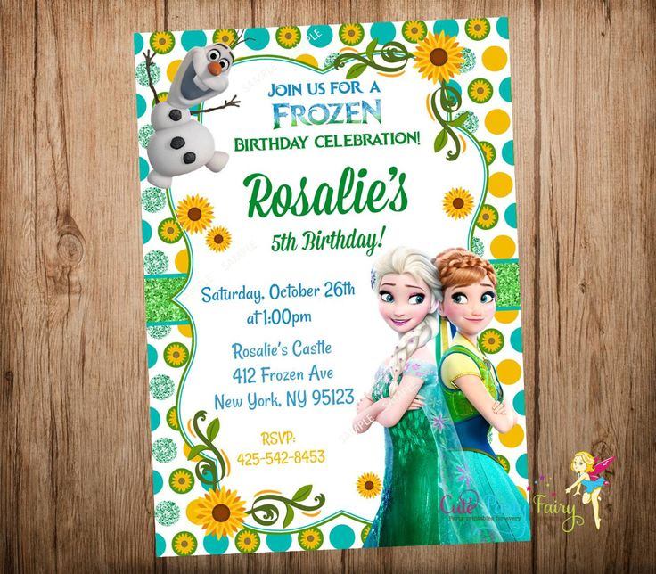 9 best girasoles images on pinterest frozen birthday sunflowers frozen fever birthday invitation disney frozen by cutepartyfairy solutioingenieria
