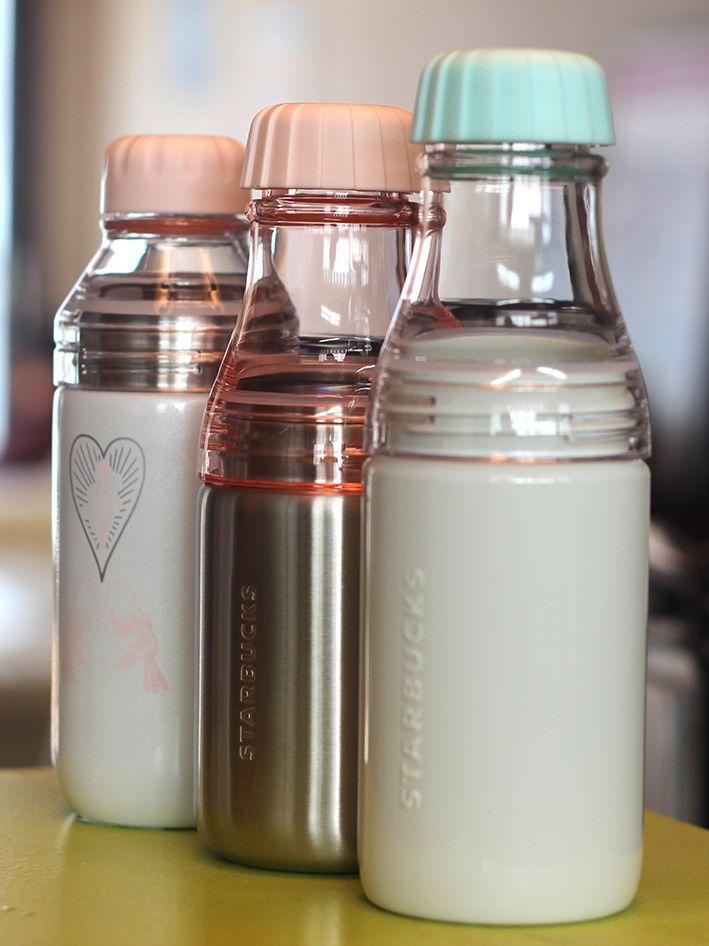 Valentine's Day Starbucks Milkyblue Sunny SS Pink Lovebird Lena Waterbottle 3SET #Starbucks