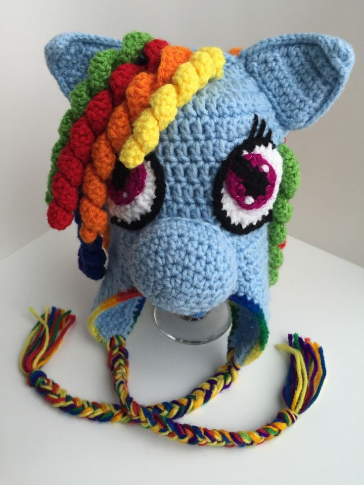 Rainbow Dash-inspired Crochet Hat by FurBabiesCB on Etsy