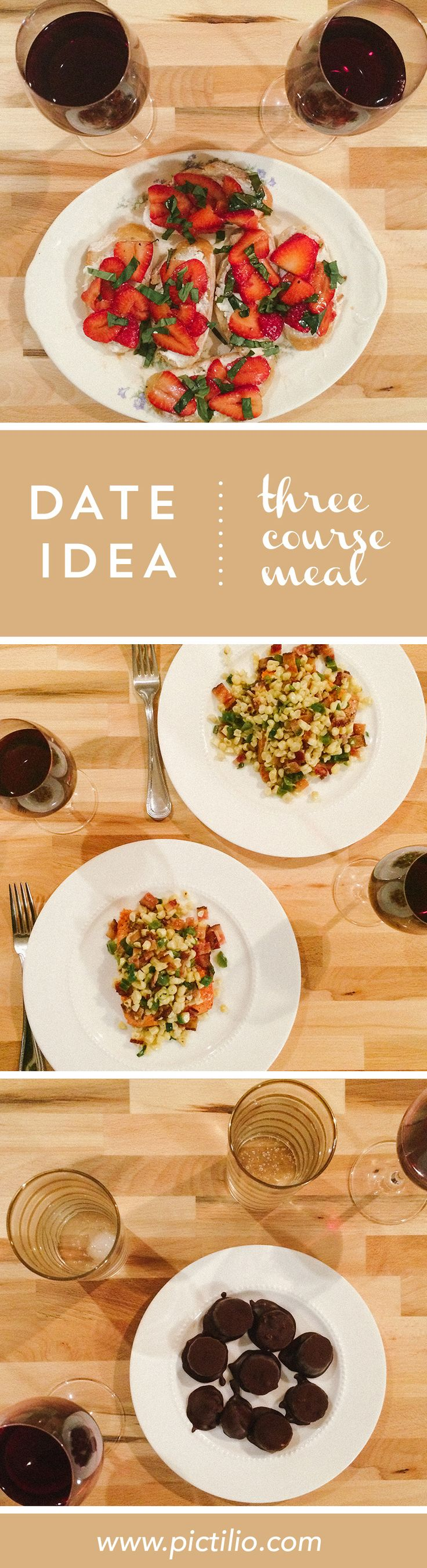The latest date idea from Pictilio: Three course meal with a dollop of romance