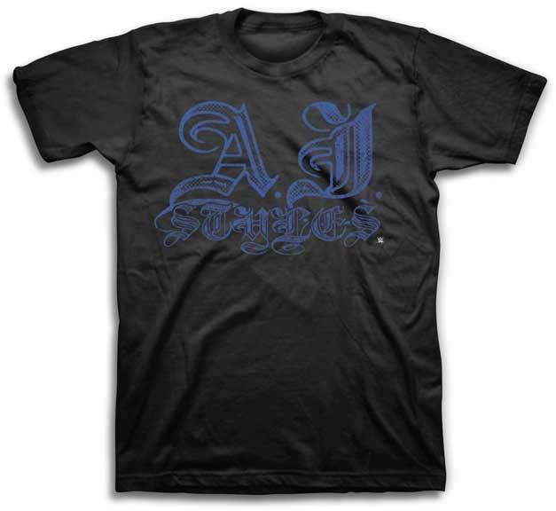 AJ Styles Signature WWE Mens Black T-shirt - http://bestsellerlist.co.uk/aj-styles-signature-wwe-mens-black-t-shirt/