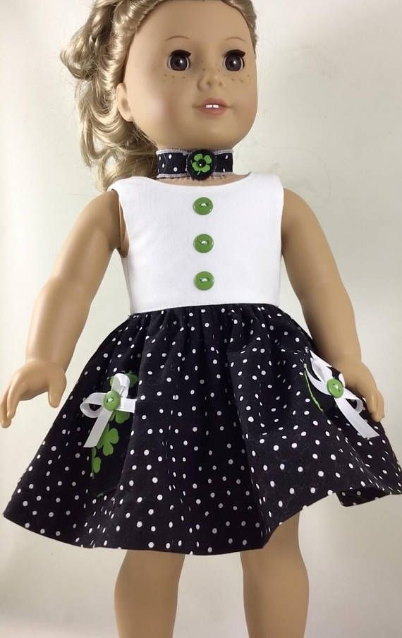 Green and White Trimmed Cardigan, Black & White Polka Dot Dress with ...