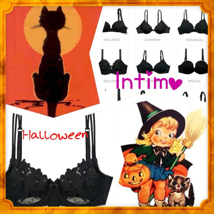 Get ready for Halloween. Intimo for every Occassion   Black is Black
